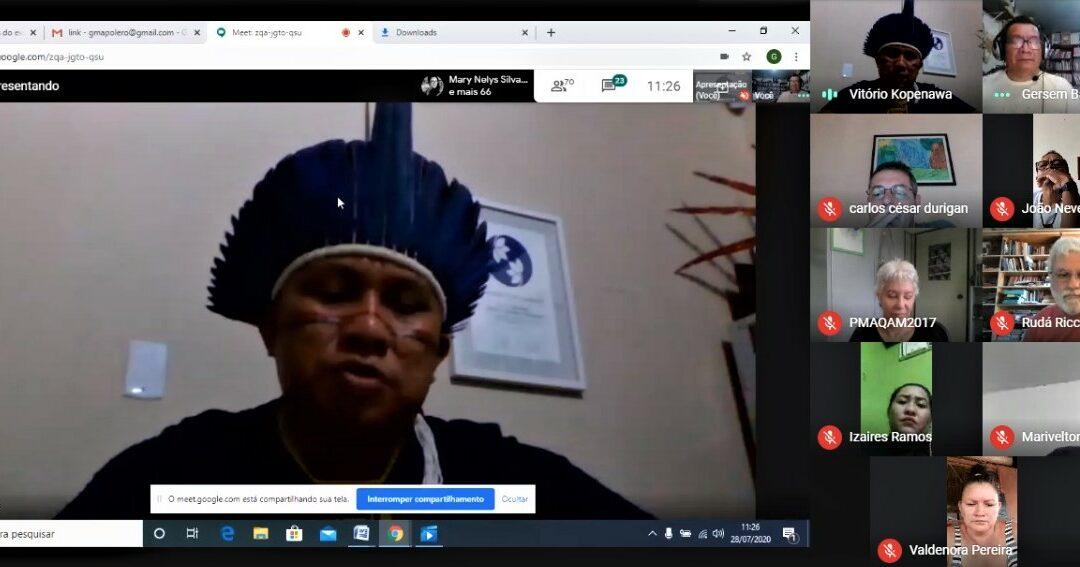 I ENCONTRO VIRTUAL DE EDUCAÇÃO E SAÚDE INDÍGENA DO AMAZONAS E RORAIMA