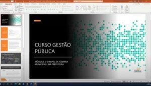 slide do curso de formação de gestão pública